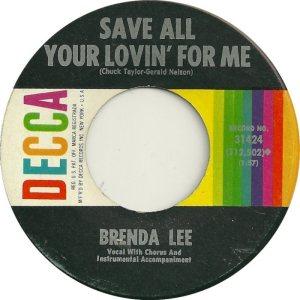 Lee, Brenda - Decca 31424 D