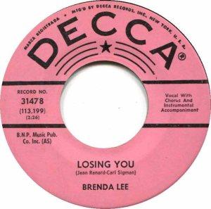 Lee, Brenda - Decca 31478 C