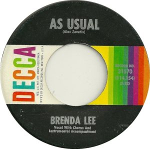 Lee, Brenda - Decca 31570 B