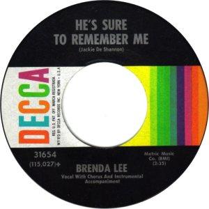 Lee, Brenda - Decca 31654 E