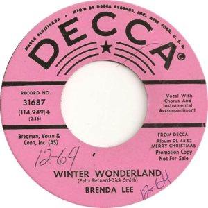 Lee, Brenda - Decca 31687 PS D