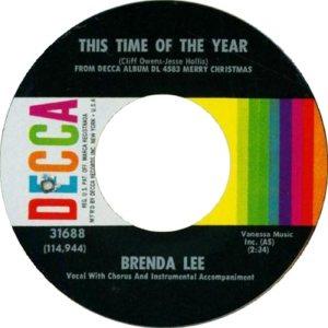 Lee, Brenda - Decca 31688 PS D