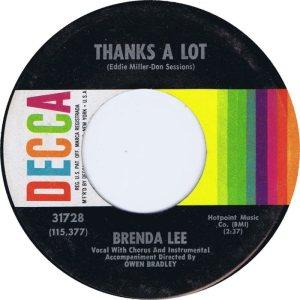 LEE, BRENDA DECCA 31728 A