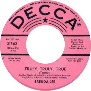 Lee, Brenda - Decca 31762 C