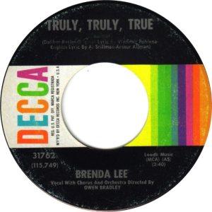 Lee, Brenda - Decca 31762 E