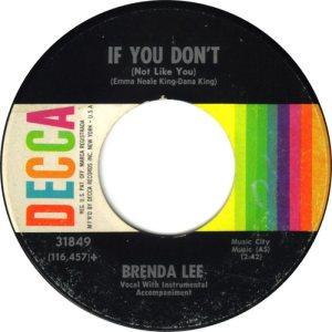 LEE, BRENDA DECCA 31849 B