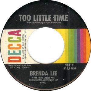 LEE, BRENDA DECCA 31917 B