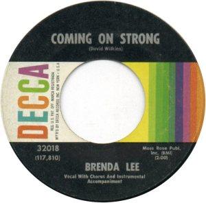 LEE, BRENDA DECCA 32018 A