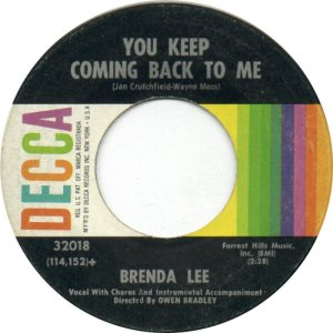LEE, BRENDA DECCA 32018 B