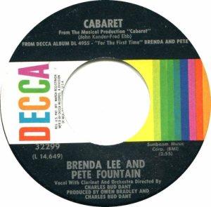 LEE, BRENDA DECCA 32299 a