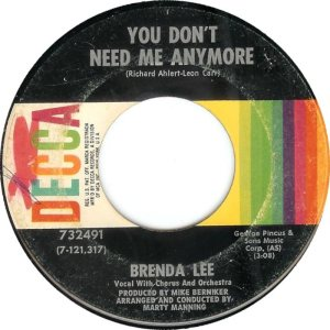 LEE, BRENDA DECCA 32491 A
