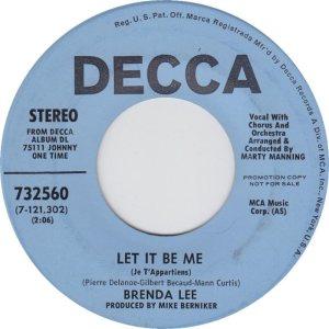LEE, BRENDA DECCA 32560 B