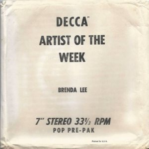 Lee, Brenda - Decca 33EPCB 74216 - Sincerely