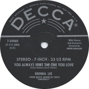 Lee, Brenda - Decca 33EPCF 74216 D