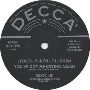 Lee, Brenda - Decca 33EPCF 74216 E