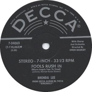 Lee, Brenda - Decca 33EPCF 74216 G