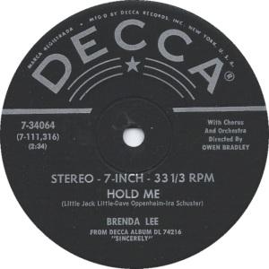 Lee, Brenda - Decca 33EPCF 74216 H