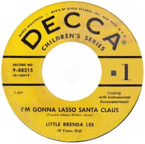 Lee, Brenda - Decca 88215- Christy Christmas B