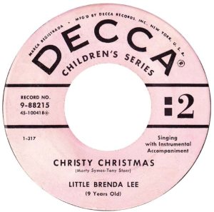 Lee, Brenda - Decca 88215- Christy Christmas C