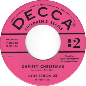 Lee, Brenda - Decca 88215- Christy Christmas D