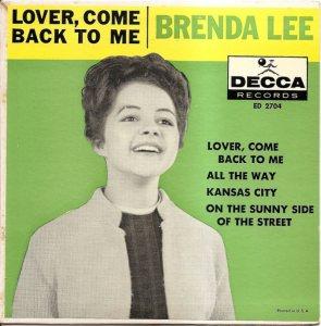 LEE, BRENDA - DECCA EP 1961 2704 A