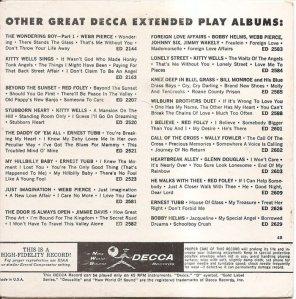 LEE, BRENDA - DECCA EP 1961 2704 B