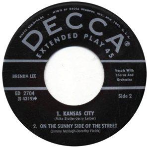 LEE, BRENDA - DECCA EP 1961 2704 D