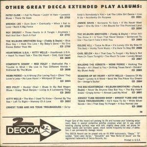 LEE, BRENDA - DECCA EP 1962 2726 AA