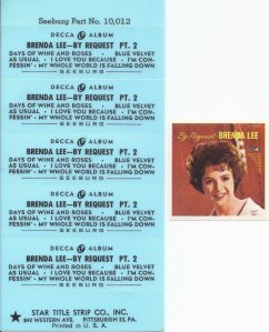 LEE, BRENDA - DECCA EP 1964 34243 B
