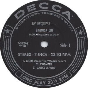 LEE, BRENDA DECCA EP 34243 PT 1 C