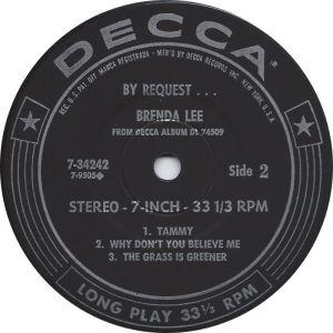 LEE, BRENDA DECCA EP 34243 PT 1 D