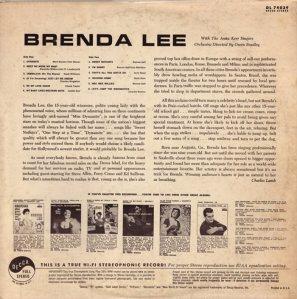 LEE, BRENDA DECCA LP 4039 B