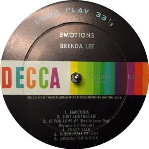 LEE, BRENDA DECCA LP 4104 C