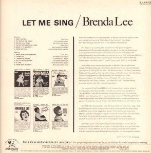 LEE, BRENDA DECCA LP 4439 B