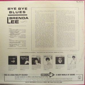 LEE, BRENDA DECCA LP 4755 B