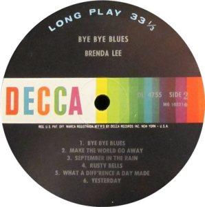 LEE, BRENDA DECCA LP 4755 D