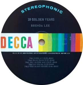LEE, BRENDA DECCA LP 4757 F
