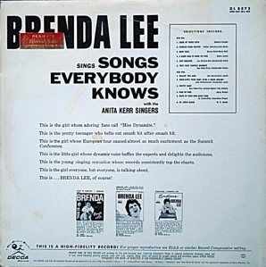 LEE, BRENDA DECCA LP 8873 B