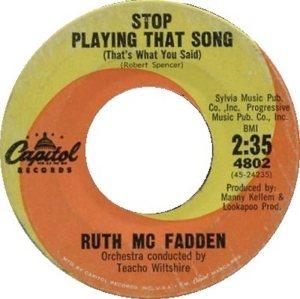 MCFADDEN RUTH 62 A