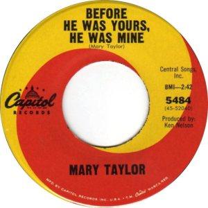 TAYLOR MARY 65 B