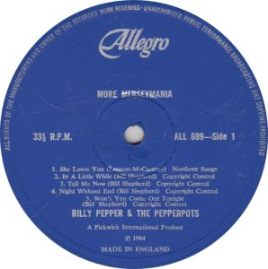 BILLY PEPPER & PEPPERPOTS - ALLEGRO 689