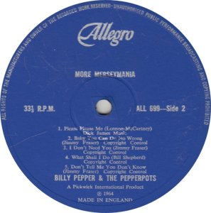 BILLY PEPPER & PEPPERPOTS - ALLEGRO 689_0001