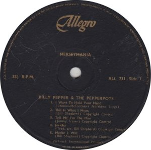 BILLY PEPPER & PEPPERPOTS - ALLEGRO 731
