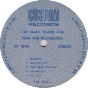 CLARK FIVE DAVE - CUSTOM 1098