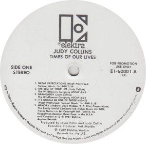 COLLINS JUDY - ELEKTRA 60001 R