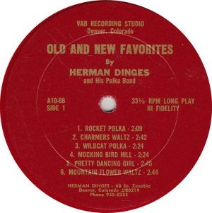 DANCE - DINGES HERMAN - VAB 1066 R