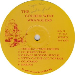 GOLDEN WEST WRANGLERS - GW 1983 R_0001