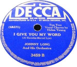 KAVELIN AL COMP - 1940 JOHNNY LONG - Copy
