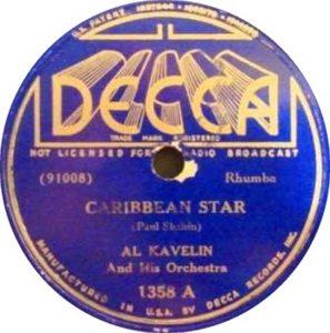 KAVELIN AL RELEASE DECCA 91008 A