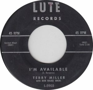 LUTE 5903 - MILLER TERRY